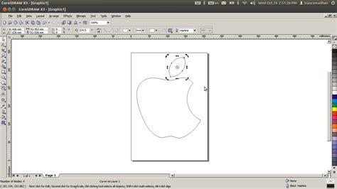membuat pattern corel tutorial coreldraw cara membuat logo apple