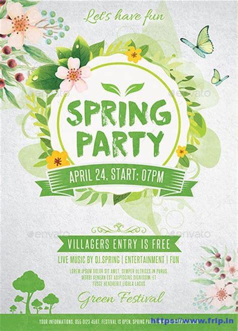 80 best spring break party flyer print templates 2017