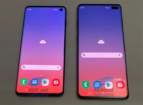 leaked photos show samsung galaxy s10 s10 punch displays iphone in canada