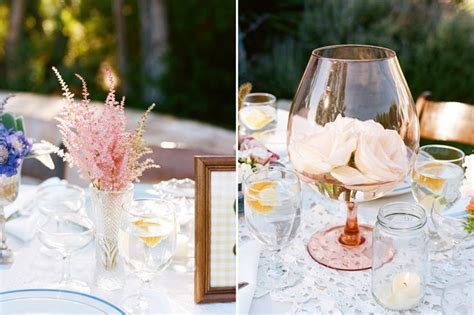 Blooms In Brandy Glasses Wedding Ideas Pinterest Wedding Centerpieces With Wine Glasses