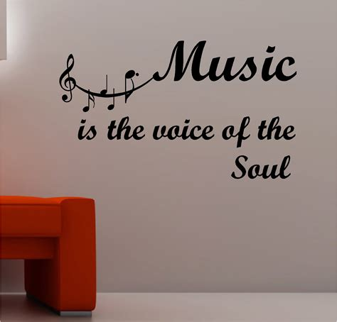 Musical Note Wall Stickers music is the voice of the soul wall art vinyl lounge
