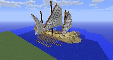minecraft grian boat medieval ship creation minecraft worlds curse