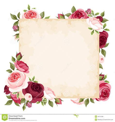 amapola testo italiano carta di vettore con le rosse e rosa illustrazione