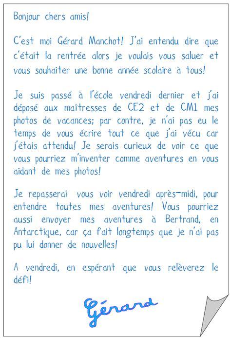 Exemple De Lettre En Vacances Modele Lettre Ce2 Document