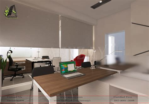 software house reception area designed by aenzay aenzay software house staff manager area design by aenzay
