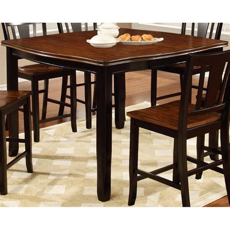 Dover Black & Cherry Counter Height Dining Table