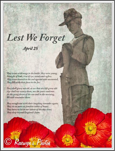 Lest We Forget by Anzac Day Lest We Forget Decocraftsdigicrafts