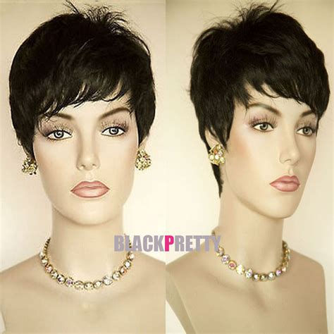 short hairstyle wigs for black women rihanna hairstyle black wig short pixie cut wigs for black