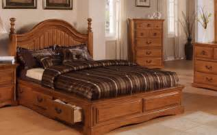 wooden bedroom furniture designs with wood bed