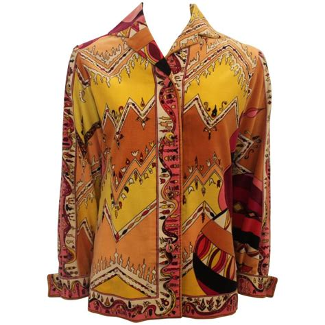 Vintage Colored Striped Print Jacket pucci vintage multi colored velvet shirt jacket 4 1970