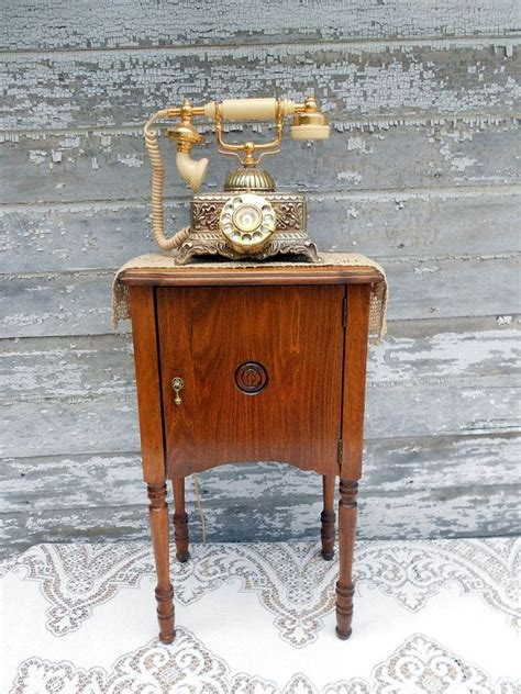 Antique Telephone Cabinet by Antique Telephone Cabinet Table Stand Brass