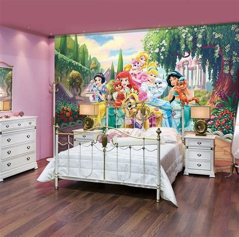 disney wallpaper for bedrooms giant size wallpaper mural for girl s room palace pets