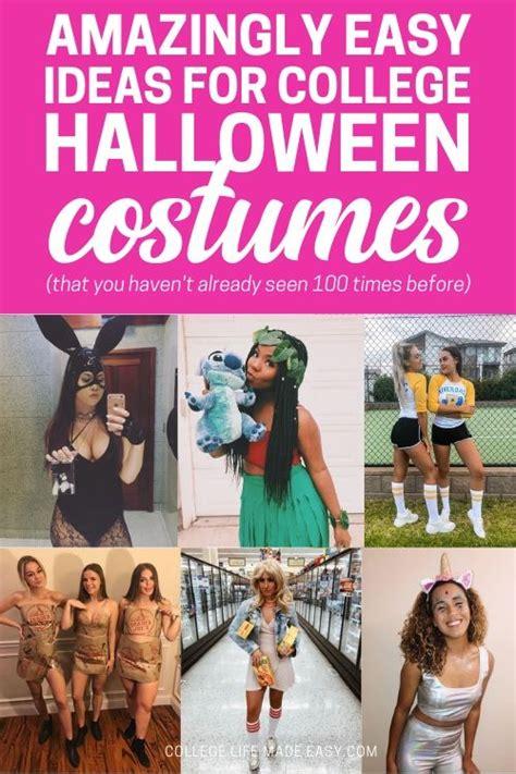 easy college halloween costumes  ideas