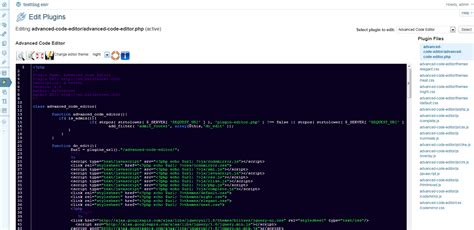themes advanced editor template js wordpress advanced code editor bainternet bainternet