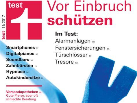 Stiftung Warentest Alarmanlagen by Stiftung Warentest Alarmanlagen Einbruchschutz Sichere T