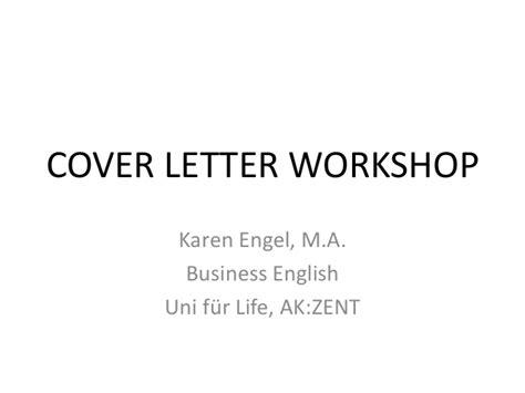 Motivation Letter Workshop Cover Letter Workshop