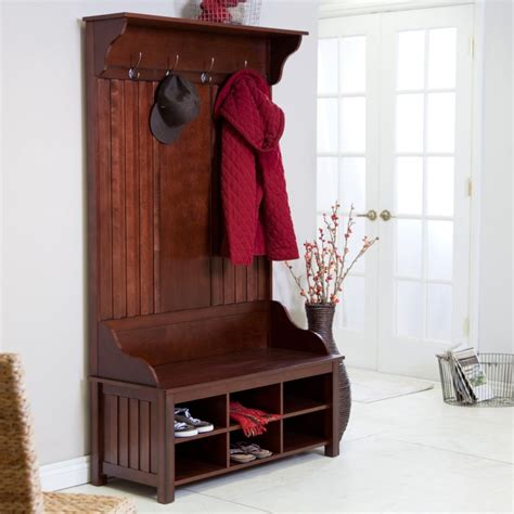hall tree bench shoe storage choosing hall tree storage bench eva furniture