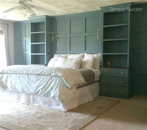 master bedroom project reveal built ins twoinspiredesign diy master bedroom built ins hometalk