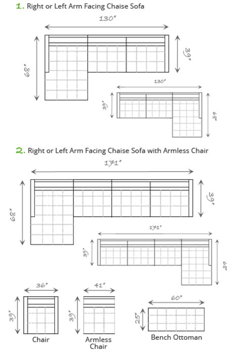 chaise dimensions dimensions