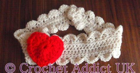 free crochet heart pattern uk valentine headband free pattern crochet addict uk