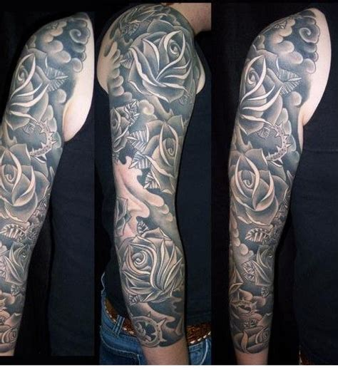 flowers tattoos for men mens flower sleeve designs the best flowers ideas