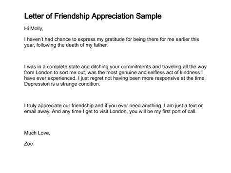 appreciation letter to a special friend 10 free sle appreciation letters slebusinessresume