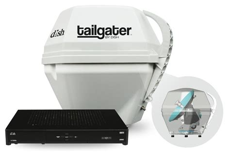 dish network tailgater portable satellite antenna   hd solo receiver ebay
