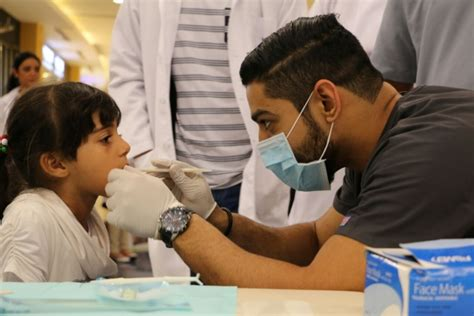 students hold oral health awareness campaign  mall