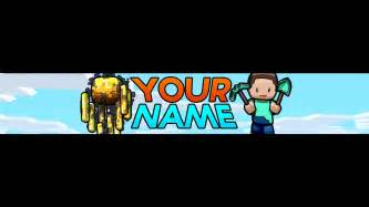 Free minecraft youtube banner channel art template psd download