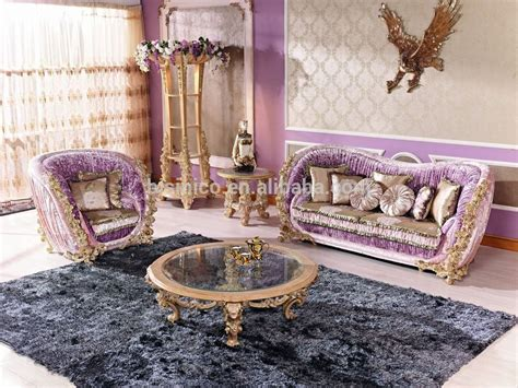 Italian Luxury Living Room Furniture Antique Rose Solid Luxury Chairs For Living Room