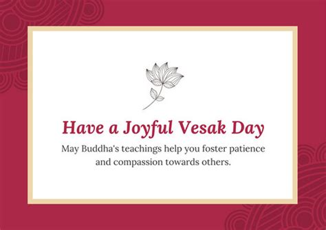Vesak Card Templates by Blue And Pink Floral Administrative Professionals Day Card