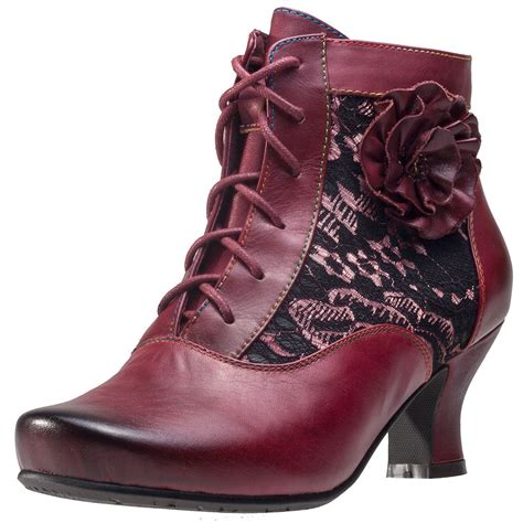 laura vita candice  womens ankle boots  wine