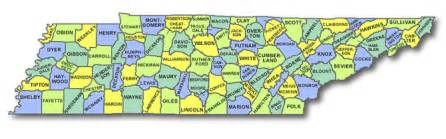 Tennessee Map Counties by Tennessee Dog Cart Licensing County State Rules And