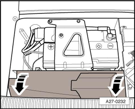 audi a2 battery location audi workshop manuals gt a2 gt vehicle electrics