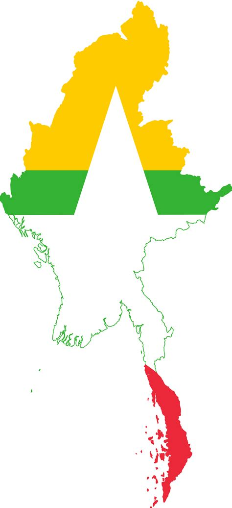 myanmar map png myanmar map flag