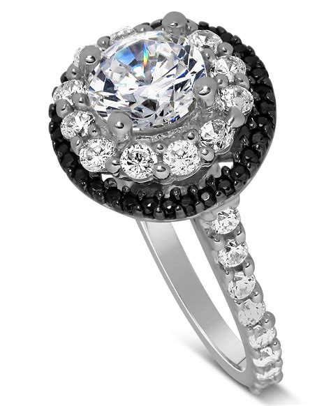 luxurious 1 carat black and white halo