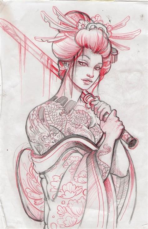 geisha warrior tattoo drawings 25 best ideas about geisha tattoos on pinterest geisha