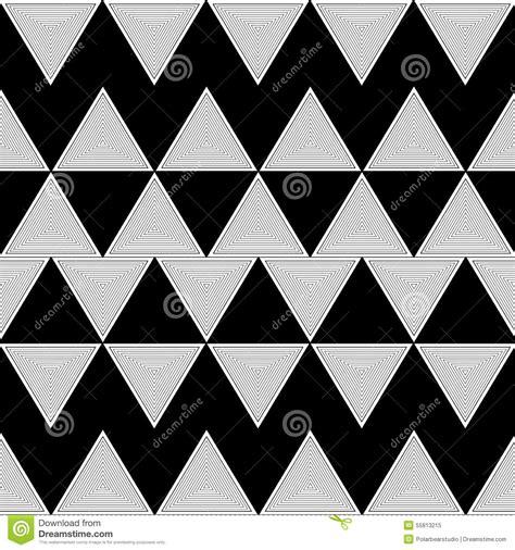 triangle zig zag pattern triangle illusion pattern zigzag stock vector image