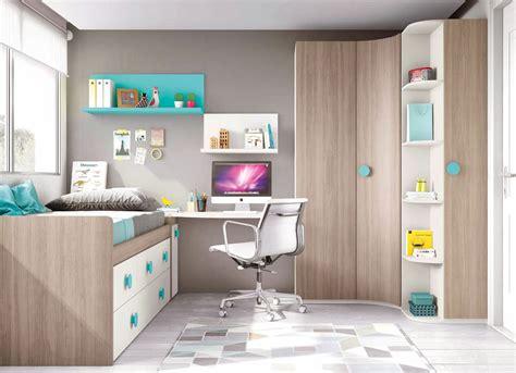 lit surélevé avec bureau intégré estrade dans chambre