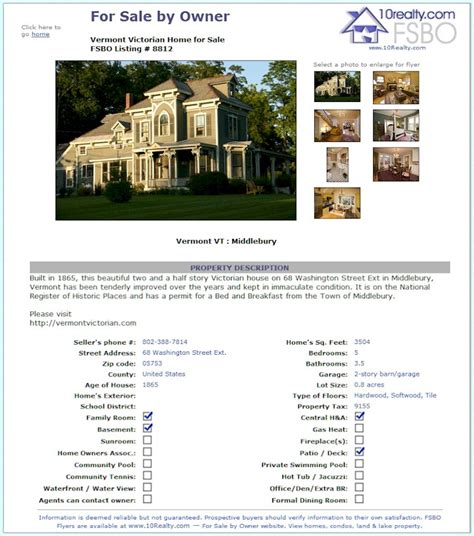 property flyer template free free fsbo real estate listing free fsbo for sale by owner