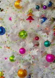 quot white christmas tree with ornaments and lights quot by john