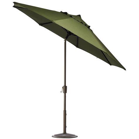 11 ft patio umbrella hton bay 11 ft aluminum patio umbrella in quarry 9111 01004300 the home depot