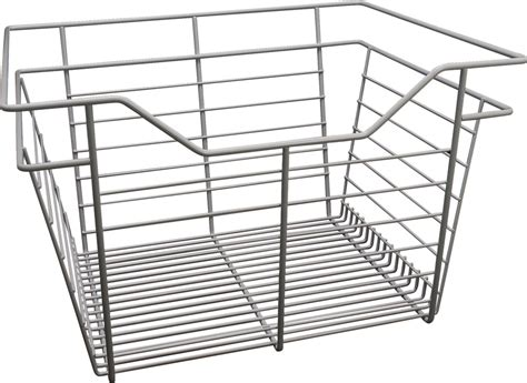 Wardrobe Wire Baskets by Wire Closet Basket With Extension Slides In The