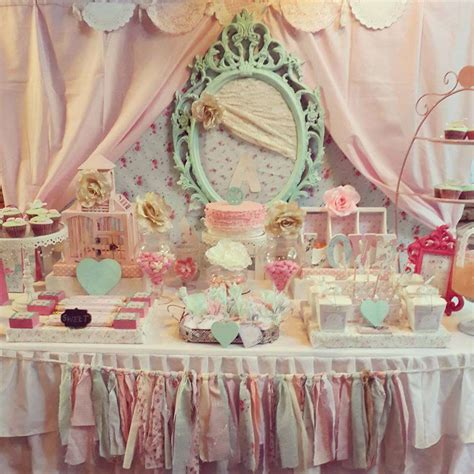 shabby chic birthday party ideas photo 2 of 19 catch
