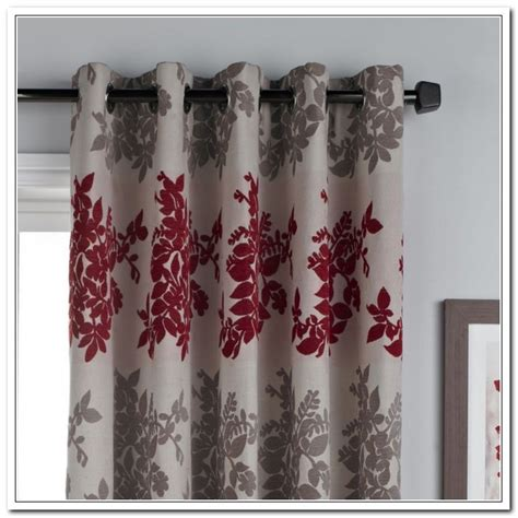 Red And Grey Curtains Bing Images