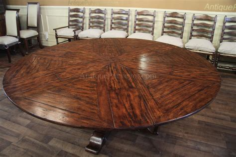 Antique Mahogany Dining Room Set - rustic round to round dining table with hidden leaves reclaimed wood styling ebay