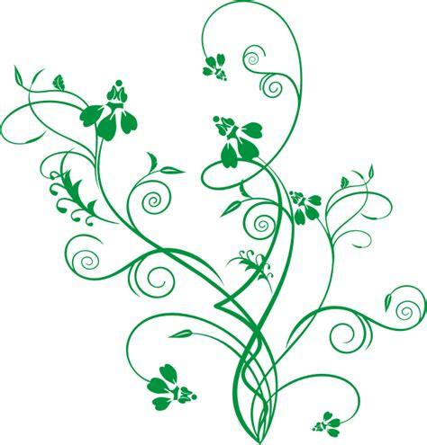 Motif Flower Hijau by Ornamen Bunga Hijau Green Flower Ornament Vector