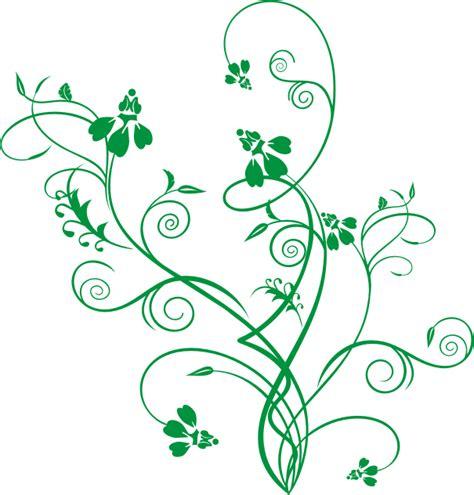Motif Flower Hijau ornamen bunga hijau green flower ornament vector