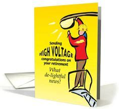 Electrician Birthday Card Retirement Cards On Pinterest Retirement Cards