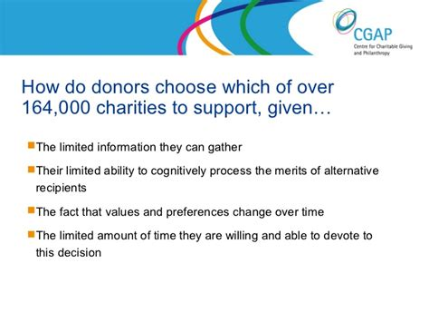 donors choose how donors choose charities